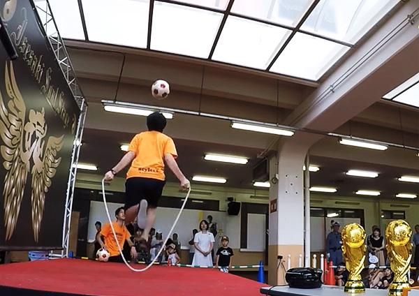 伊勢崎鉄馬縁日 フリースタイルフットボール