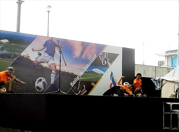 Jヴィレッジ再始動 記念式典・オープニングイベント フリースタイルフットボール11