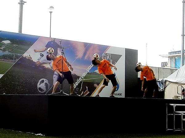Jヴィレッジ再始動 記念式典・オープニングイベント フリースタイルフットボール9