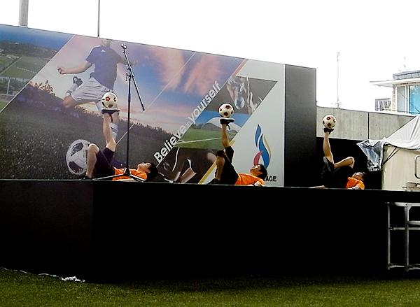 Jヴィレッジ再始動 記念式典・オープニングイベント フリースタイルフットボール7