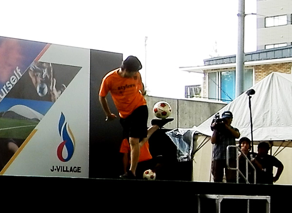 Jヴィレッジ再始動 記念式典・オープニングイベント フリースタイルフットボール6
