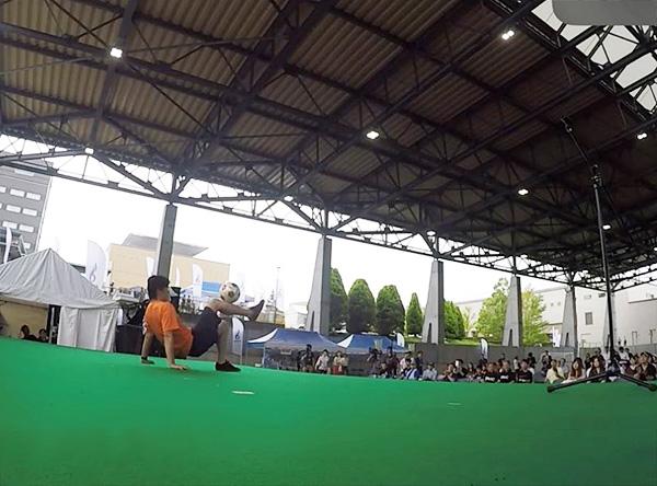 Jヴィレッジ再始動 記念式典・オープニングイベント フリースタイルフットボール