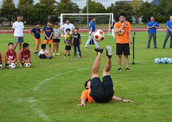 日東シンコー杯 U-10福井県少年サッカー選手権大会でフリースタイルフットボール3
