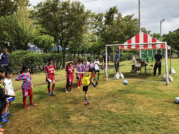 日東シンコー杯 U-10福井県少年サッカー選手権大会でフリースタイルフットボール12